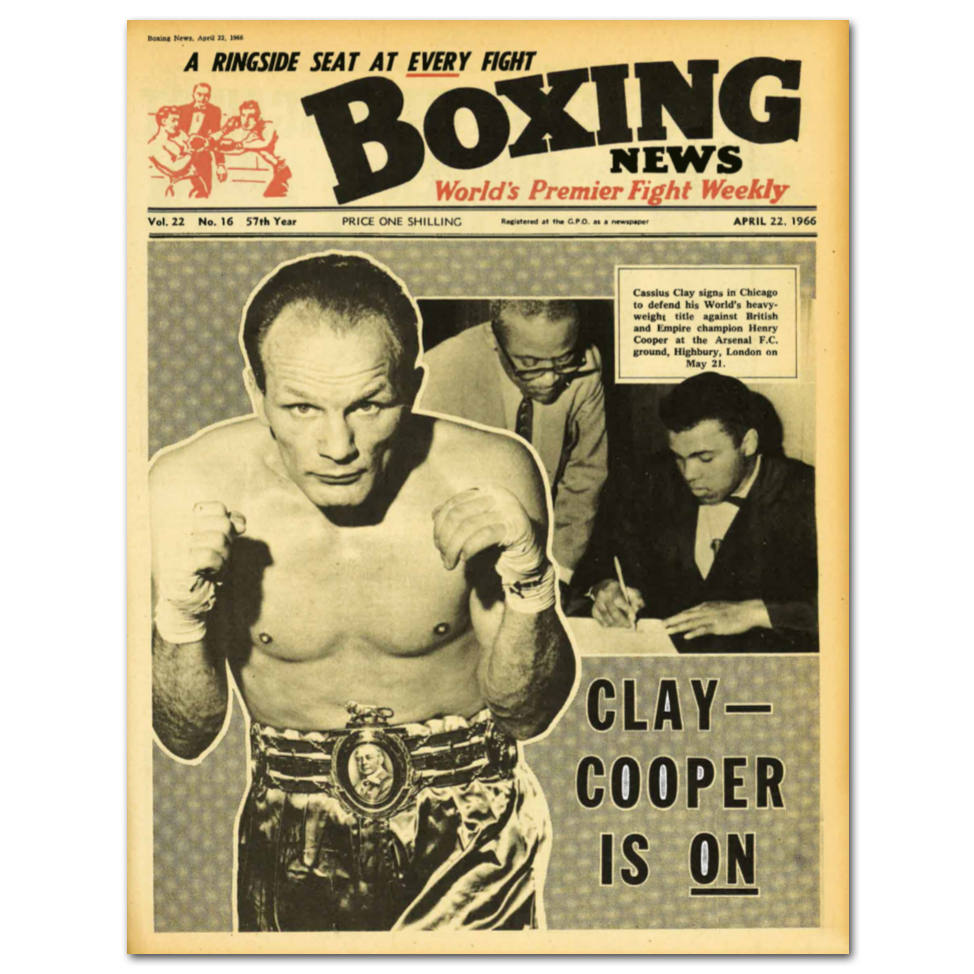 Boxing News Poster - 22nd April 1966 Issue Cover