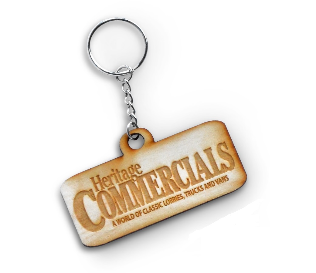 Heritage Commercials Wood Effect Keyring