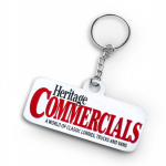 Heritage Commercials White Keyring