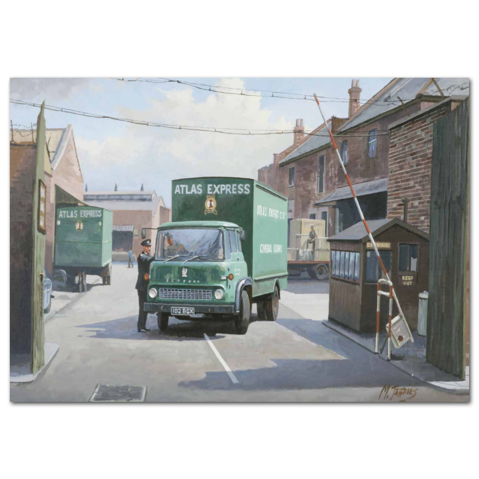 Lorry Poster #16 - Bedford Leaving the Depot