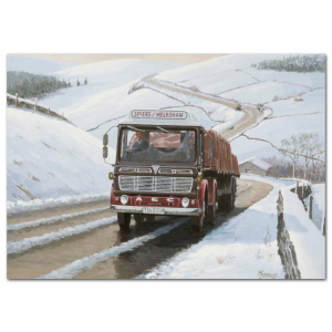 Lorry Poster #17 - Uphill Trucking on a Snowy Afternoon