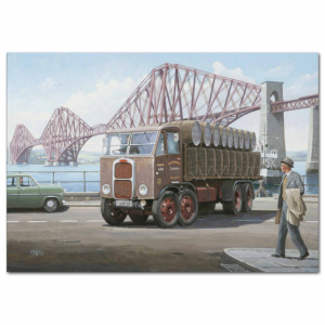 Lorry Poster #18 - Trucking by Forth Bridge