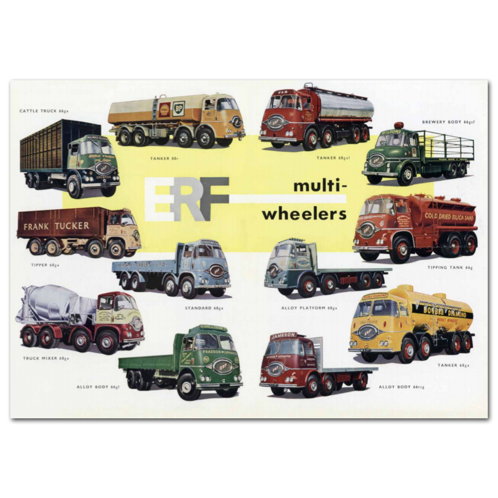 Lorry Poster #4 - ERF Montage