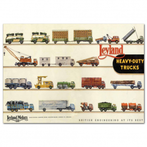 Lorry Poster #8 - Leyland Heavy Duty Trucks