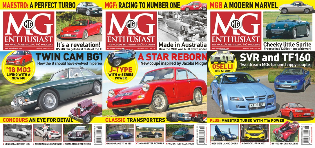 Subscribe today to MG Enthusiast