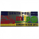 Mini in the Park Souvenir Plaque 10th Aug 2014