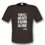 You'll Never Farm Alone Dark Grey T-shirt