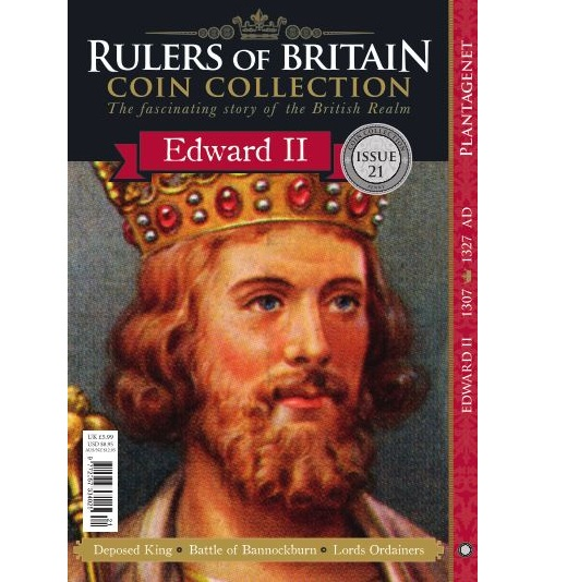 Rulers of Britain Coin Coll. Issue 21 - Edward II