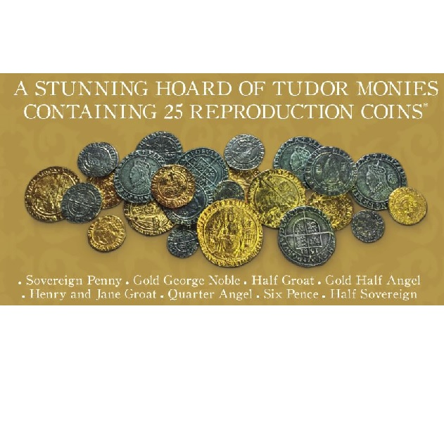 Rulers of Britain - Hoard of 25 Tudor Coins