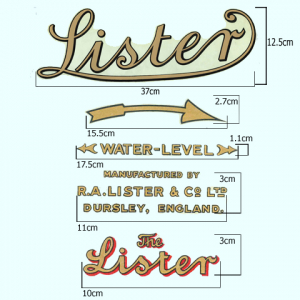 Lister Stationary Engine Transfer (set of 5)