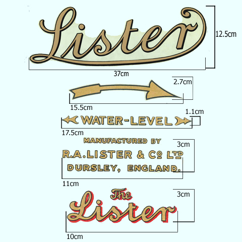 Lister Stationary Engine Set of 5 Transfers