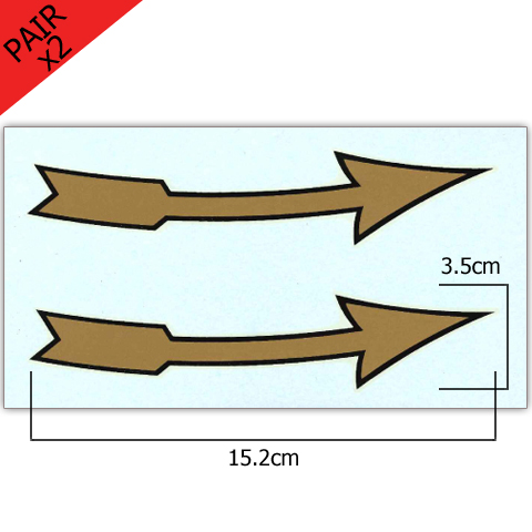 Pair of Anti-Clockwise 6 Inch Arrow Transfers