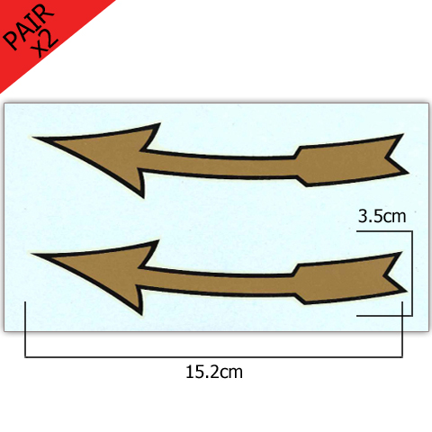 Pair of Clockwise 6 Inch Arrow Transfers