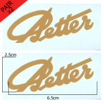Stationary Engine Transfer No. 06 Petter small gold script signature (x2 - a pair)