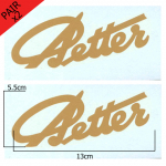 Stationary Engine Transfer No. 07 Petter large gold script signature (x2 - a pair)