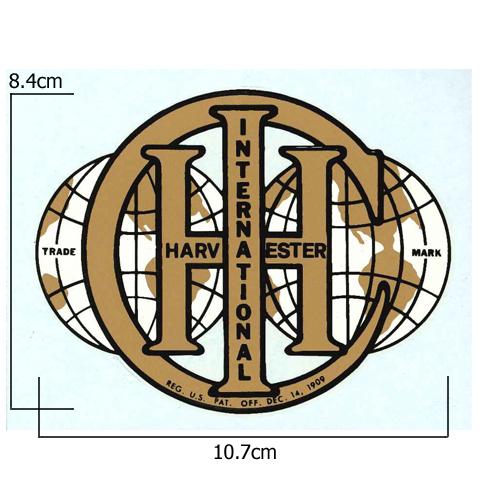 stationary engine transfer international ihc globe logo