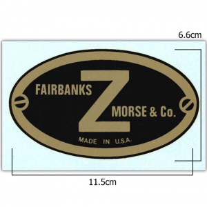 Stationary Engine Transfer Ref 13. - Fairbanks Morse Z Plate