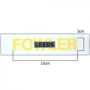 Fowler Yellow Logo Transfer