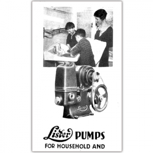 Stationary Engine Instruction Booklet - No 26 - Lister Pumps for household & Estate Duties