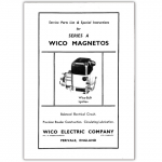 Stationary Engine Booklet Ref 27 - Service Parts List & Special Instructions for Series A Wico 'A' Magneto