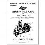 Stationary Engine Booklet Ref 29 - Lister Well Pumps - Spray Pumps