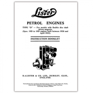 Stationary Engine Booklet - Lister D Types Built between 1926 - 1935