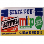 Mini In The Park Santa Pod Aug 2014 Sticker