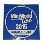 Mini World Live 2015 Sunday 5th July Sticker