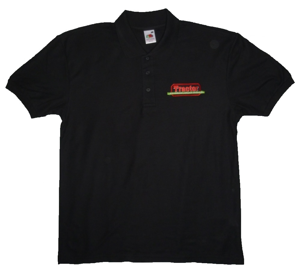 New Tractor & Farming Heritage Black Polo Shirt
