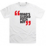 Fast Car T-Shirt Roads Closed Pizza Boy Size Med