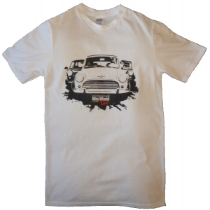 MiniWorld White T-Shirt Car Design