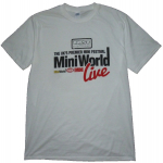 MiniWorld Live Logo White T-Shirt